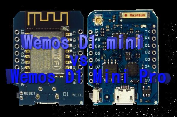 Wemos D1 mini vs. Wemos D1 mini pro