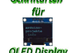 Schriftarten OLED Display