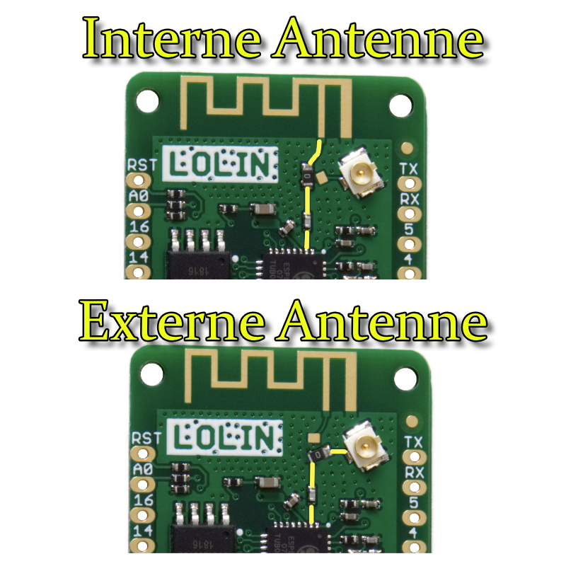 Antenne Wemos D1 mini pro